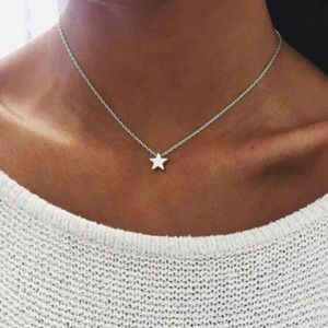 Jewelry - 4 for $20 Star Choker Necklace (Silver)